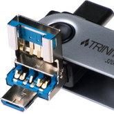 Patriot Trinity - Niewielki pendrive z kompletem złączy USB