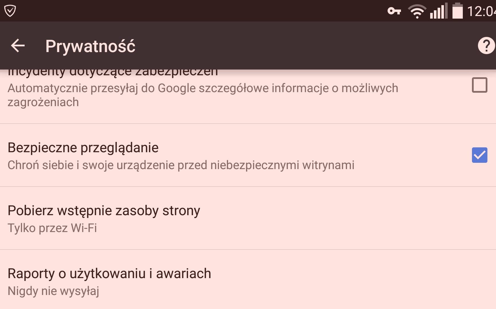 Chrome dla Androida #1