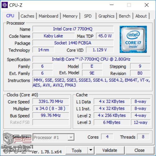 Test GeForce GTX 1050 2GB vs GTX 1050 4GB w laptopach MSI [43]
