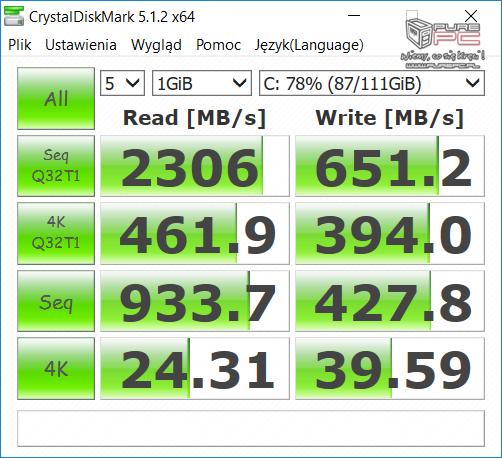 Test GeForce GTX 1050 2GB vs GTX 1050 4GB w laptopach MSI [62]
