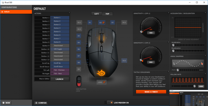 Test SteelSeries Rival 500 - Mysz do MMO z dobrym sensorem [21]