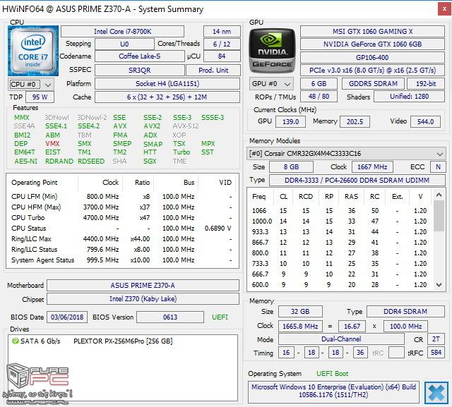 Test ASUS Prime Z370-A - Tańsza wersja Strix Z370-F Gaming [30]