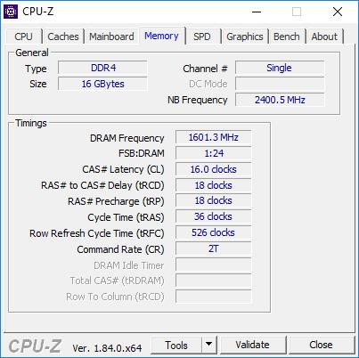 Test pamięci DDR4 Crucial Ballistix Tactical Tracer 3000 CL [1]