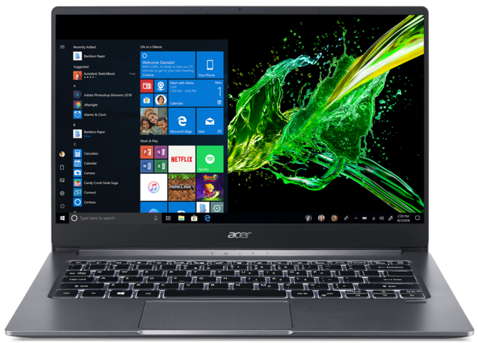 Acer Swift 3 (2019) - test ultrabooka z Intel Core i5-1035G1 i MX250 [1]