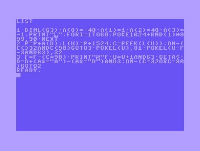 PureRetro: kodowanie Commodore 64 w 280 znakach na Twitterze [9]