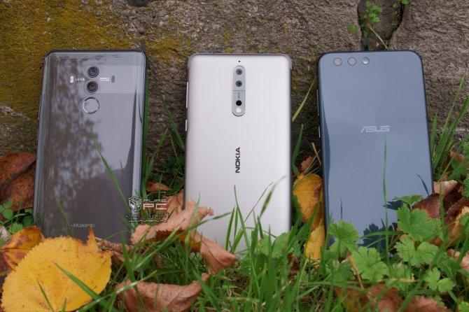 Aparat w Huawei Mate 10 Pro vs. Nokia 8 i ASUS ZenFone 4 [1]