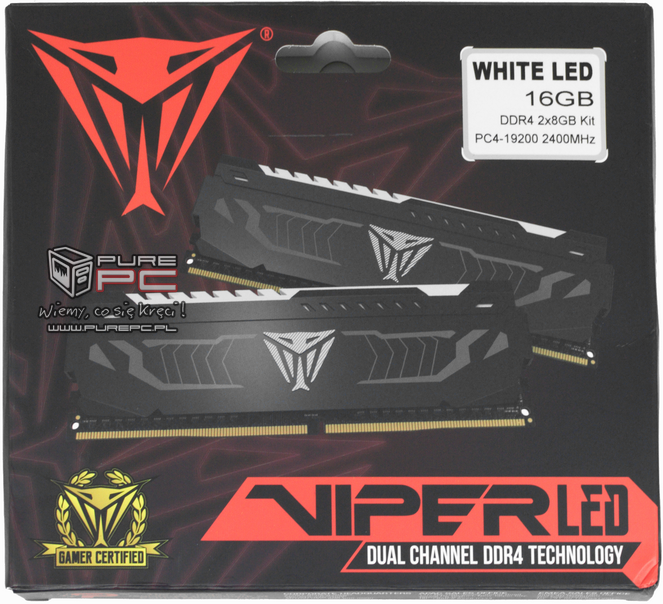 Test pamięci DDR4 Patriot Viper White LED 2400 MHZ CL 14 [11]