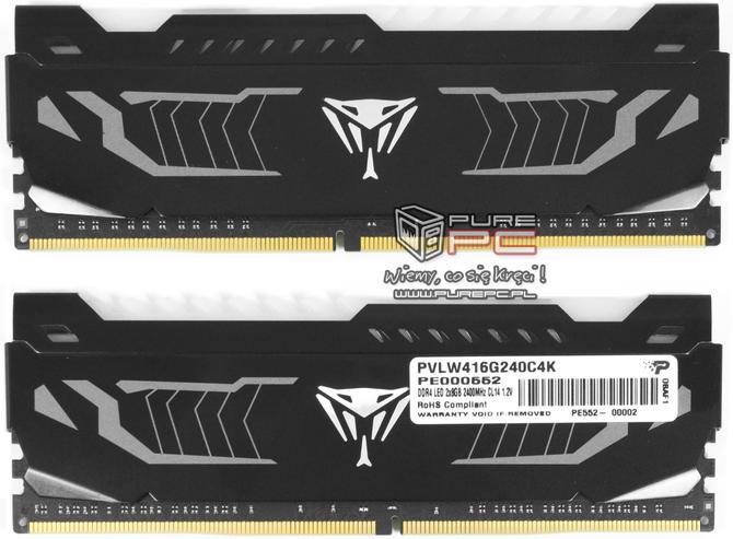 Test pamięci DDR4 Patriot Viper White LED 2400 MHZ CL 14 [15]