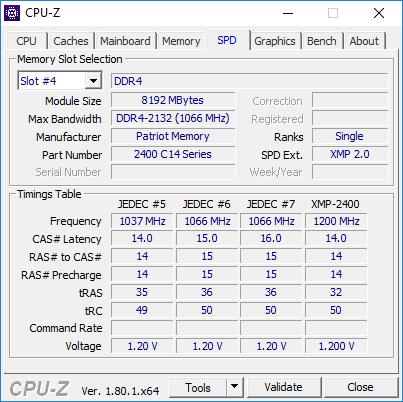 Test pamięci DDR4 Patriot Viper White LED 2400 MHZ CL 14 [5]