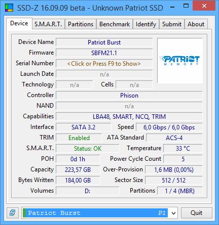 Patriot Burst 240GB Jeden z tańszych SSD dostępnych na rynku [3]
