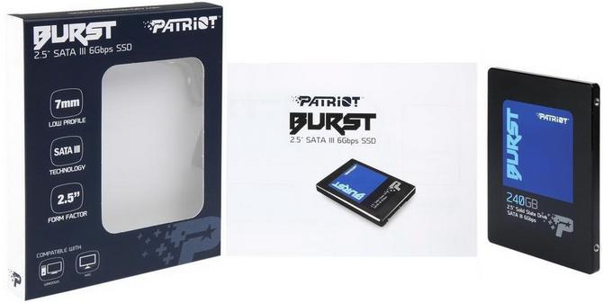 Patriot Burst 240GB Jeden z tańszych SSD dostępnych na rynku [5]