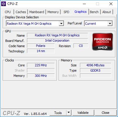Radeon RX Vega M GH vs GeForce GTX 1050 Ti i GTX 1060 Max-Q [5]