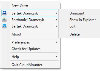 CloudMounter: obsługa Dropboxa, OneDrive i Google Drive  [5]