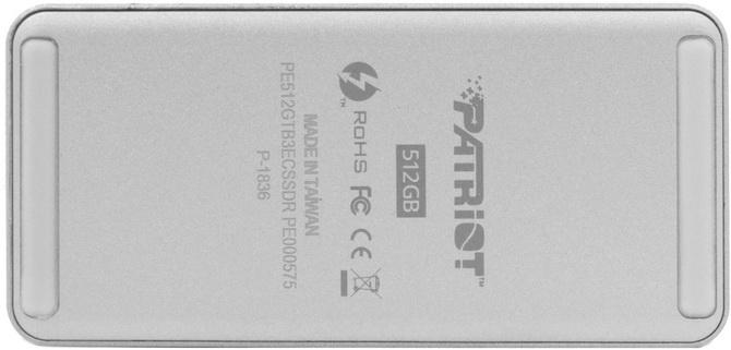 Test Patriot Evolver 512 GB - Przenośny SSD ze złączem Thunderbolt [nc2]