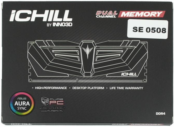 Test pamięci DDR4 Inno3D iChill Aura 4000 MHz CL19 [nc1]