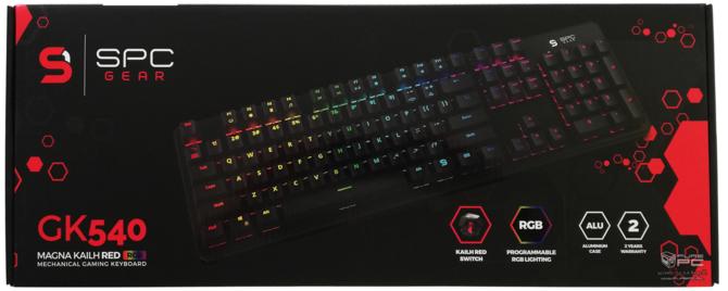 Test SPC Gear GK540 Magna Kailh Red RGB - po polsku i niedrogo [3]
