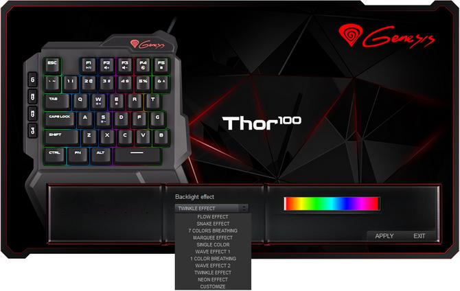 Test Genesis Thor 100 RGB - Miniaturowa klawiatura czyli keypad [6]