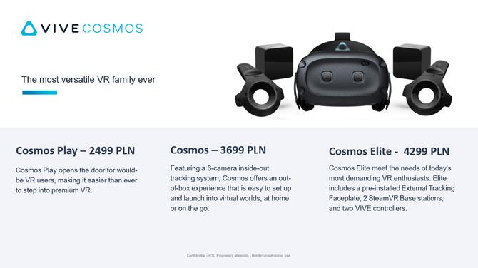 HTC Vive Cosmos – Modułowe gogle VR w wersji do pracy i zabawy [1]