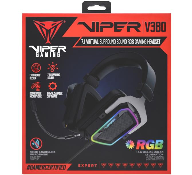 Test Patriot Viper V380 - headset 7.1 preferujący ostre brzmienie [4]