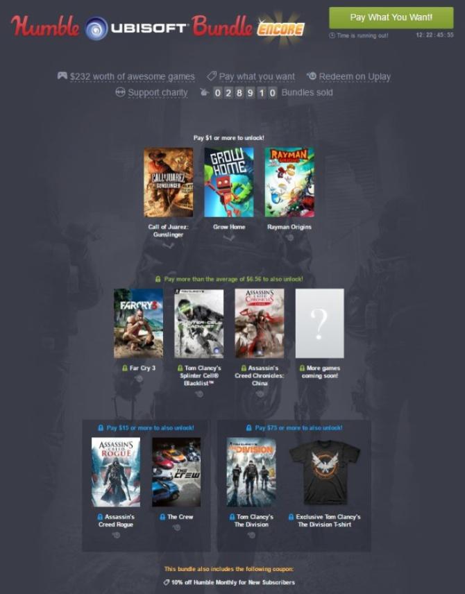 Humble Ubisoft Bundle Encore - kolejna świetna paczka gier [1]