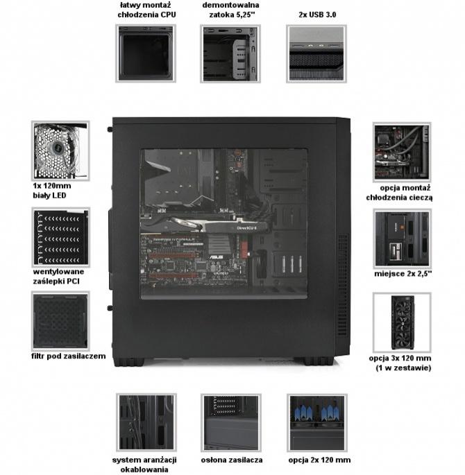 SilentiumPC Regnum RG1W Pure Black - tania obudowa z oknem [3]