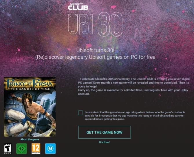 30 urodziny Ubisoft - Firma będzie rozdawać gry za darmo [1]