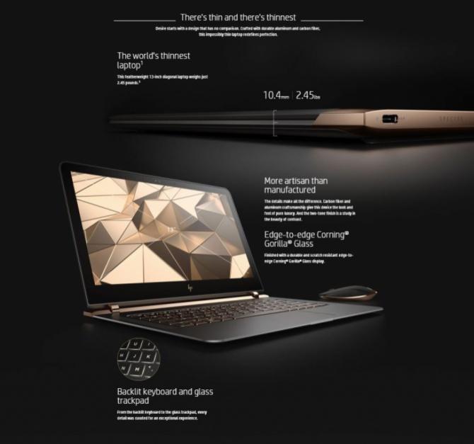 HP Spectre 13 - premiera ultrabooka o oryginalnej stylistyce [1]