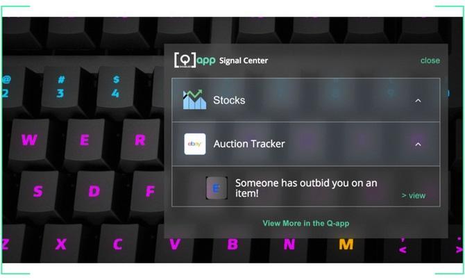 Das Keyboard 5Q wyświetli alerty systemowe na klawiaturze [1]