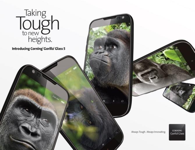Corning Gorilla Glass 5 - koniec z rozbitymi ekranami? [1]