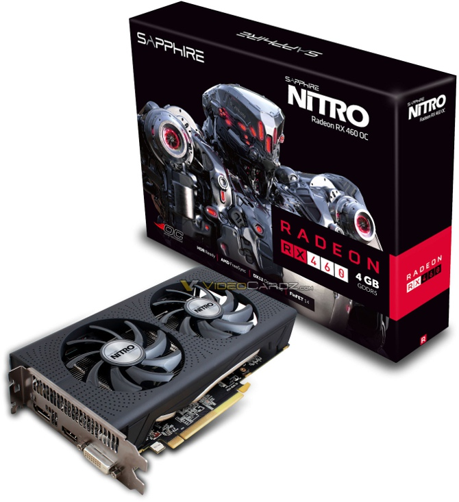Sapphire Radeon RX 460 Nitro OC 4 GB uchwycony na zdjęciu [1]
