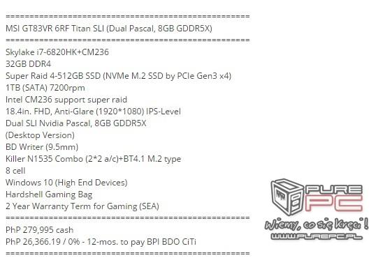 Notebooki MSI wyposażone w karty NVIDIA GeForce GTX 10x0 [11]