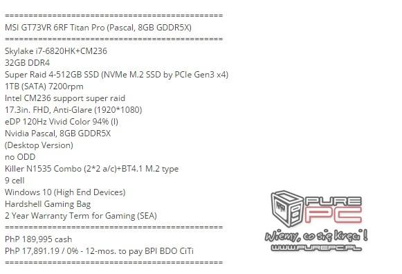 Notebooki MSI wyposażone w karty NVIDIA GeForce GTX 10x0 [8]