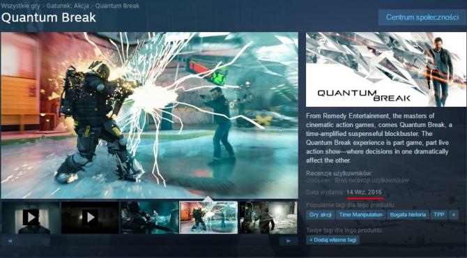 Quantum Break pojawi się w edycji pudełkowej oraz na Steamie [1]