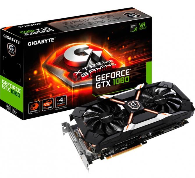 Gigabyte prezentuje kartę GTX 1060 Xtreme Gaming z 6 GB VRAM [1]