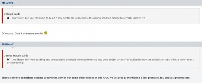 MSI przygotowuje Radeona RX 460 w wersji low profile [1]