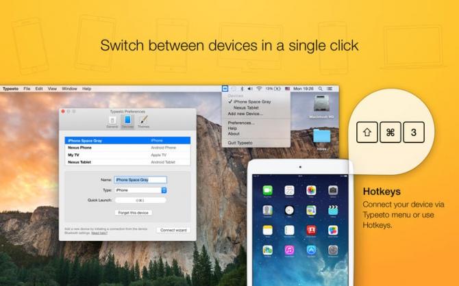 Mac jako klawiatura Bluetooth dzięki Typeeto, teraz za darmo [1]