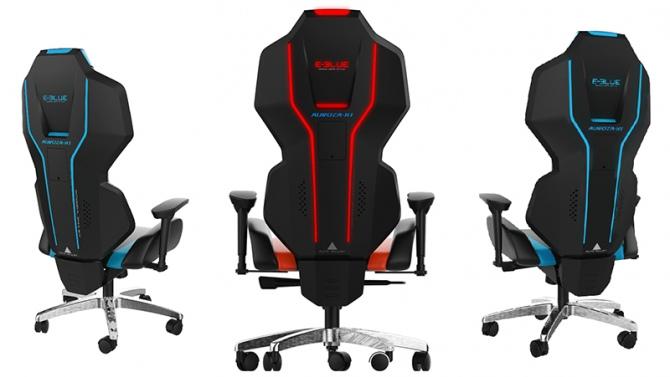 E-Blue Auroza X1 - gamingowy fotel z oświetleniem LED [1]