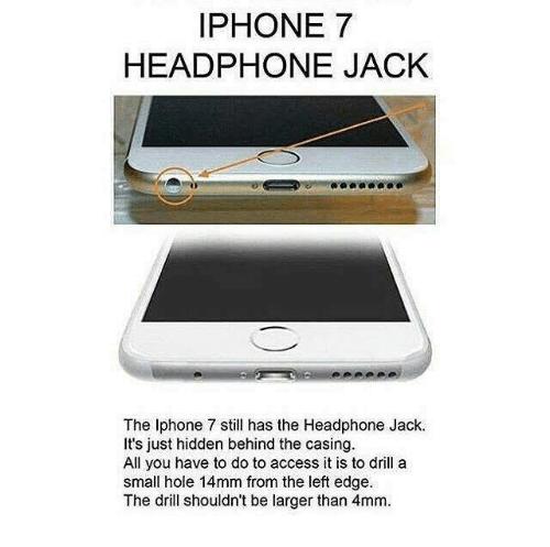 Ludzie wiercą gniazdo jack w iPhone 7 - To nie jest żart... [2]