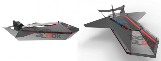 Lian Li X-Men BlackBird - obudowa w formie... samolotu [1]