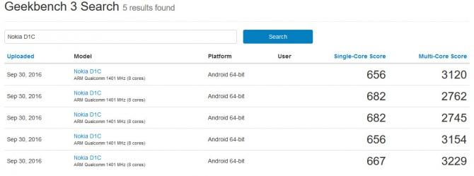Nokia D1C - pierwsze wyniki wydajności smartfona z Androidem [2]