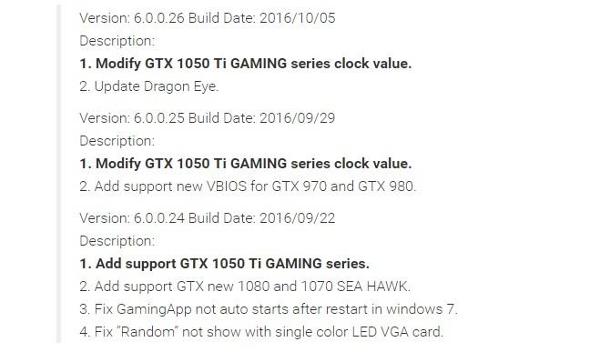 GeForce GTX 1050 Ti już ze wsparciem MSI Gaming App [1]