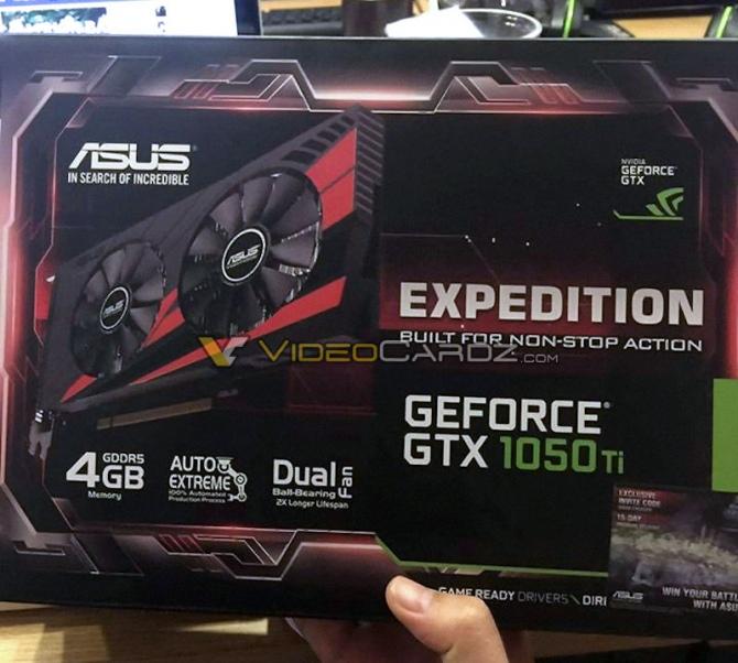 NVIDIA GeForce GTX 1050 Ti od ASUS uchwycone na zdjęciu [1]