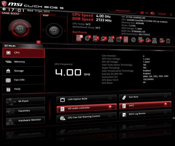 MSI - problem z nowymi BIOS-ami obsługującymi CPU Kaby Lake [1]