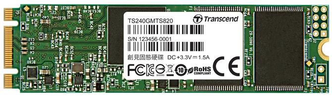 Transcend MTS820 - nowe dyski SSD M.2 oparte na kościach TLC [1]