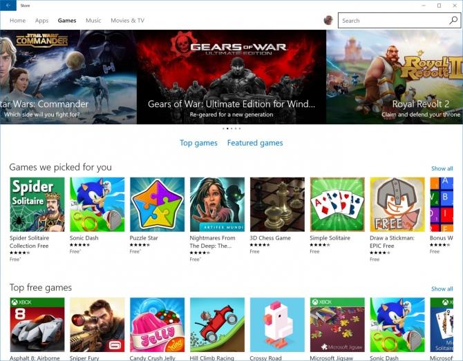 Można już grać offline w gry ze sklepu Windows 10 [1]