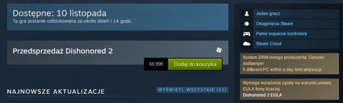 Dishonored 2 będzie miało Denuvo. Piraci zaciskają zęby [1]