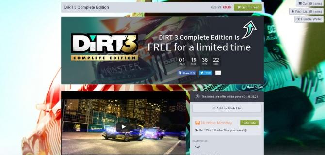 Dirt 3 Complete Edition za darmo w Humble Store [1]
