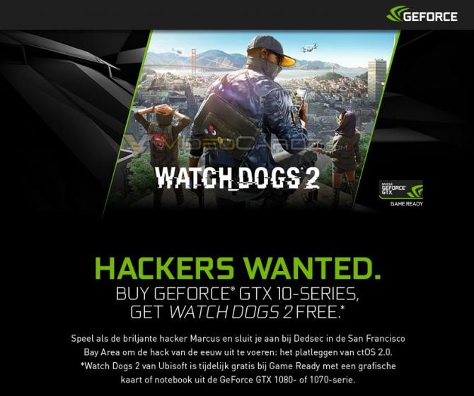Watch Dogs 2 - NVIDIA będzie dodawać grę do GTX 1080 i 1070 [1]
