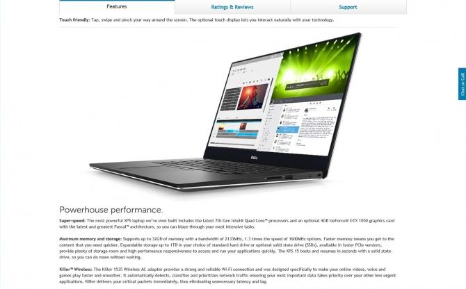 Dell niechcący ujawnia model XPS 15 9560 z GeForce GTX 1050 [1]