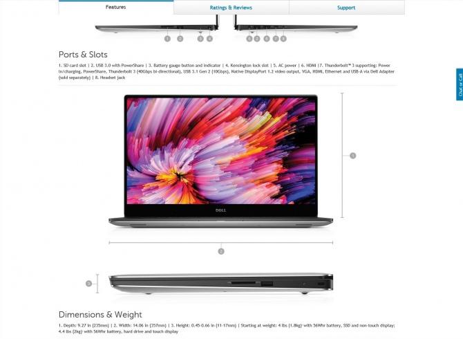 Dell niechcący ujawnia model XPS 15 9560 z GeForce GTX 1050 [4]